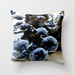 Blueberries in Water Throw Pillow