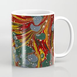 Melting Marbled Paper Coffee Mug