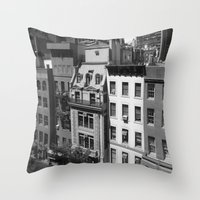 buildings Throw Pillows featuring Buildings by Mariairene Didoni