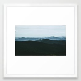 Sea of Mountains Framed Art Print