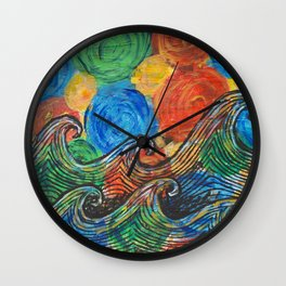 Waves in my Dreams Wall Clock