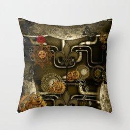 Wonderful noble steampunk design Throw Pillow