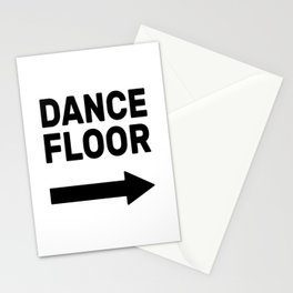 Dance Floor (arrow point right) Stationery Cards