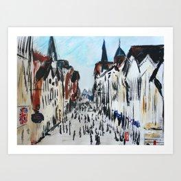 Eastgate Street, Chester, England Impressionist Fine Art Art Print