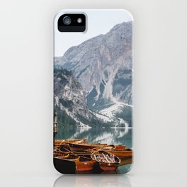 Day at the Mountain Lake iPhone Case