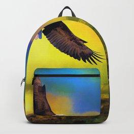 Eagle in Desert Sunset (Color) Backpack
