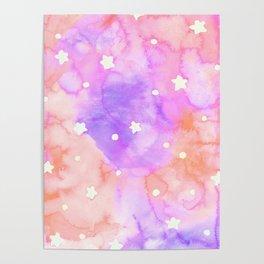 Starry Sky Raspberry Milkshake Poster