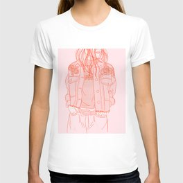 rose embroideries T-shirt