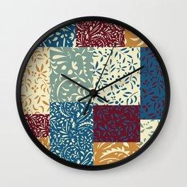 Damask Quilt Wall Clock