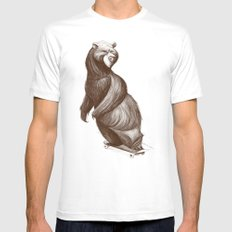 Skatepark Bear X-LARGE White Mens Fitted Tee