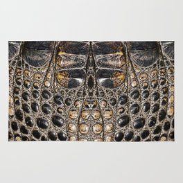 American alligator Leather Print Rug
