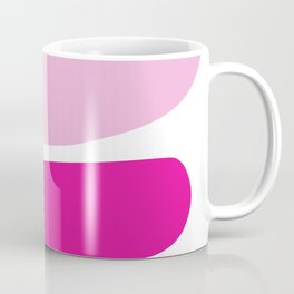 Fun retro style abstract print in soft pastel colours Coffee Mug