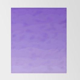 Dreamy Purple Fluff Throw Blanket