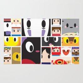 World of Ghibli Blocks Rug
