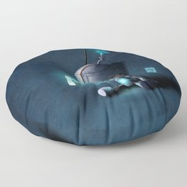 Glow Robot Floor Pillow