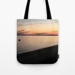 Cape Cod Bay Sunset Tote Bag