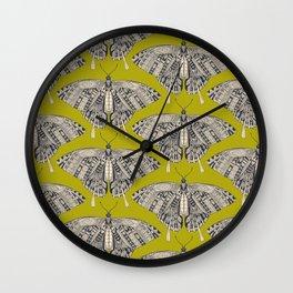 swallowtail butterfly citron basalt Wall Clock