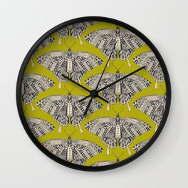swallowtail butterfly citron basalt Wall Clock