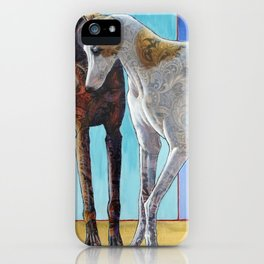Paisley Paws de Deux iPhone Case