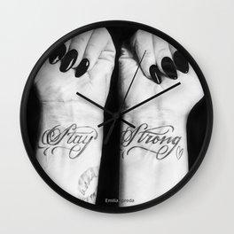 Demi Stay Strong Tattoo Drawing Wall Clock