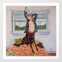 """The Waking Centaur"" Art Print"