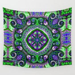 Boho Kaleidoscope Floral Pattern Var. 4 Wall Tapestry