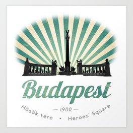 Hősök tere - Heroes' Square - Budapest, Hungary Art Print