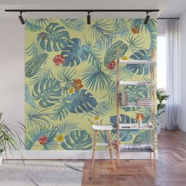 Palm Leaves Pattern 4 Wall Mural