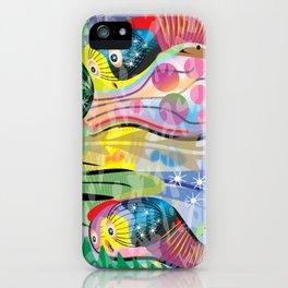 Hippy Fish in Rainbow Glow iPhone Case