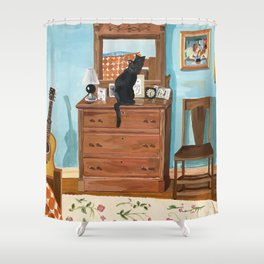 When the Cats are Home Alone Shower Curtain