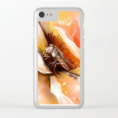 Fly on flower 8 Clear iPhone Case