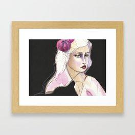 Green Eyed by Jane Davenport Framed Art Print