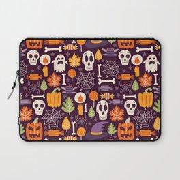 Retro Halloween Trick-Or-Treat Collage Laptop Sleeve