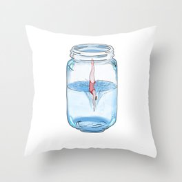 diving in the jar Throw Pillow