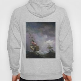 An English Ship at Sea Running In a Gale by Willem van de Velde the Younger (1700) Hoody