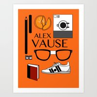 alex vause Art Prints featuring Alex Vause Poster by Zharaoh