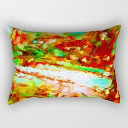 In the Thicket Abstract Rectangular Pillow