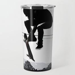 Flying High Skateboarder Travel Mug