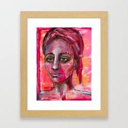 Cassandra (Acrylic on paper) Framed Art Print