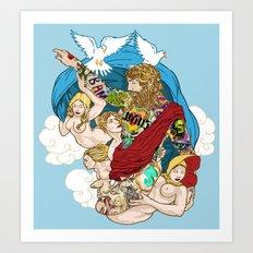 Jesus Piece Art Print