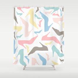 Soft pastel shoes Shower Curtain