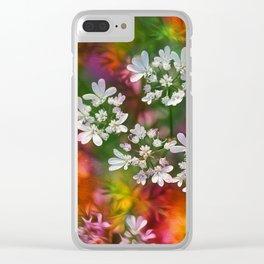 Floral Splash Clear iPhone Case