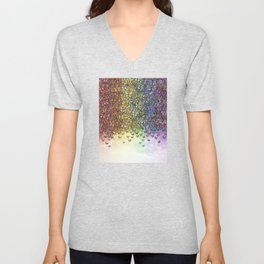 rainbow of butterflies aflutter Unisex V-Neck