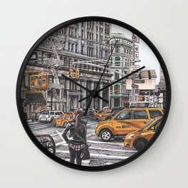 New York I Love You Wall Clock