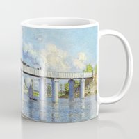 monet Mugs featuring Claude Monet - Bridge by Elegant Chaos Gallery