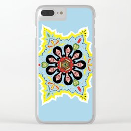 Linda belcher kaleidoscope mom and heart pickles Clear iPhone Case