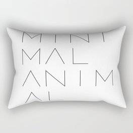Minimal Animal in white. Minimal typography quote Rectangular Pillow