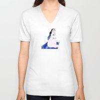 blanket V-neck T-shirts featuring Star Blanket by Stevyn Llewellyn