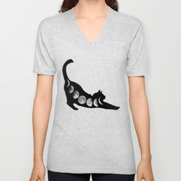 Moon Cat Unisex V-Neck
