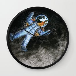 Snail in space Wall Clock